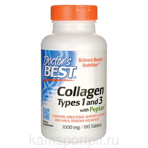 Collagen Types 1&3 1000мг 180таб  (DOCTOR`S BEST)