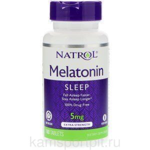 Melatonine 5 мг 100 таблеток (Natrol)
