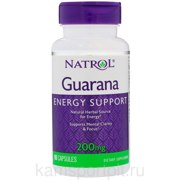 GUARANA ENERGY SUPPORT 200МГ 90ТАБ (NATROL)