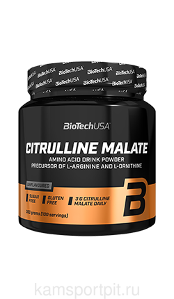 CITRULLINE MALATE POWDER 300гр 100порций (BIOTECHUSA)